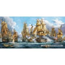 Jigsaw puzzle 4000 pcs - Naval Battle (by Castorland)