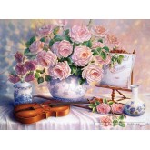 3000 pcs - Roses for the Soiree, Trisha Hardwick (by Castorland)