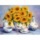 2000 pcs - Golden Blue, Trisha Hardwick (by Castorland)