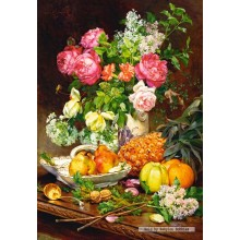 Jigsaw puzzle 1500 pcs - Roses in a Vase (by Castorland)