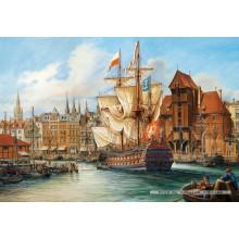 Jigsaw puzzle 1000 pcs - The Old Gdansk (by Castorland)