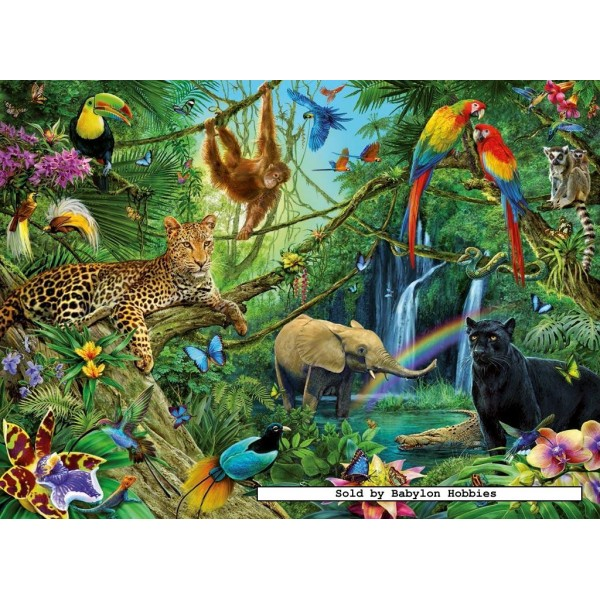 200 Pcs Animals In The Jungle Xxl By Ravensburger