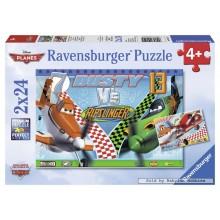 Jigsaw puzzle 24 pcs - Dusty brave Plane (by Ravensburger)