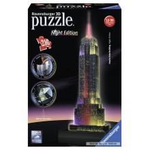 Jigsaw puzzle 216 pcs - Empire State Building at Night - Puzzle 3D Night Edition (by Ravensburger)