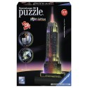 216 pcs - Empire State Building at Night - Puzzle 3D Night Edition (by Ravensburger)