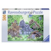 500 pcs - Young Animals in the Forest (by Ravensburger)