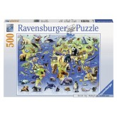 500 pcs - Endangered animals (by Ravensburger)