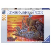 Jigsaw puzzle 500 pcs - Sunset in Africa (by Ravensburger)