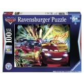 Jigsaw puzzle 100 pcs - Cars Neon - Disney Cars (by Ravensburger)