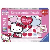 Jigsaw puzzle 24 pcs - The world of Hello Kitty - Hello Kitty (by Ravensburger)