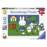 12 pcs - Miffy with the Animals - Miffy (by Ravensburger)