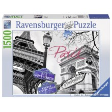 Jigsaw puzzle 1500 pcs - Paris, mon amour - Black and White (by Ravensburger)