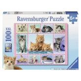 Jigsaw puzzle 100 pcs - Cute Kittens - XXL (by Ravensburger)