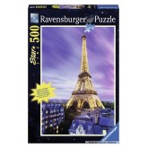 Jigsaw puzzle 500 pcs - illuminated Eiffel Tower - Starline (by Ravensburger)