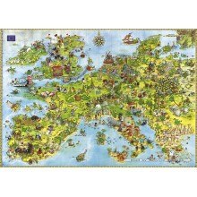 Jigsaw puzzle 4000 pcs - United Dragons of Europe - Degano (by Heye)