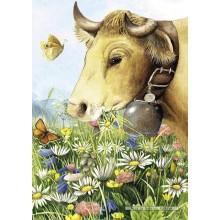 Jigsaw puzzle 1000 pcs - Cow - Marjolein Bastin (by Heye)