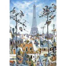 Jigsaw puzzle 1000 pcs - Eiffel Tower - Loup (by Heye)