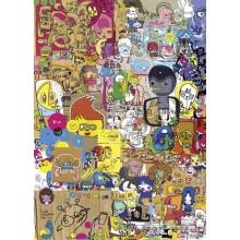 Jigsaw puzzle 1000 pcs - Merzdoodle - Jon Burgerman (by Heye)