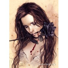 Jigsaw puzzle 1000 pcs - Dark Rose  - Victoria Frances (by Heye)