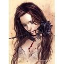 1000 pcs - Dark Rose  - Victoria Frances (by Heye)