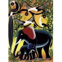 1000 pcs - Elephant Family  - Tinga Tinga (by Heye)
