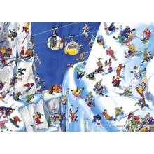 Jigsaw puzzle 1000 pcs - Snowboards - Blachon (by Heye)