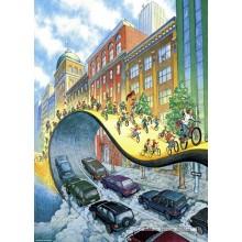 Jigsaw puzzle 1000 pcs - Velorution  - Bike Art (by Heye)