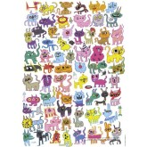 Jigsaw puzzle 1000 pcs - Doodlecats - Jon Burgerman (by Heye)