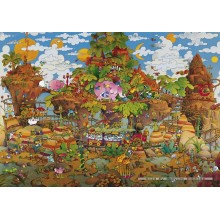 Jigsaw puzzle 2000 pcs - Train - Mordillo (by Heye)