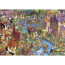 Jigsaw puzzle 1000 pcs - Bunnytown - Francois Ruyer (by Heye)