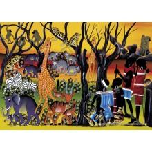 Jigsaw puzzle 2000 pcs - Residents - Tinga Tinga (by Heye)