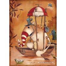 Jigsaw puzzle 1000 pcs - Rowboat - Mateo Dineen (by Heye)