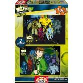 Jigsaw puzzle 100 pcs - Ben 10 Alien Force (2x) (by Educa)
