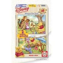 Jigsaw puzzle 50 pcs - Winnie Paints (2x) - Disney (by Educa)