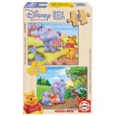 Jigsaw puzzle 9 pcs - 2x9 WINNIE & HEFFALUMP - Winnie The Pooh (by Educa)