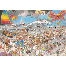 Jigsaw puzzle 1000 pcs - At the beach - Jan van Haasteren (by Jumbo)