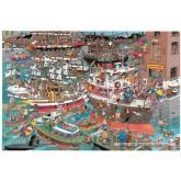 Jigsaw puzzle 1500 pcs - Crazy Harbour - Jan van Haasteren (by Jumbo)