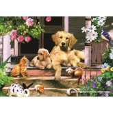 Jigsaw puzzle 500 pcs - Gathering on the Veranda (by Jumbo)