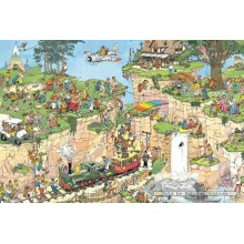 Jigsaw puzzle 1500 pcs - The Golf Course - Jan van Haasteren (by Jumbo)