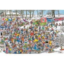 Jigsaw puzzle 3000 pcs - On Thin Ice - Jan van Haasteren (by Jumbo)