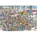 3000 pcs - On Thin Ice - Jan van Haasteren (by Jumbo)
