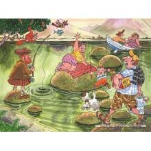 Jigsaw puzzle 150 pcs - Wasgij Mystery 2 - Panic on the Lake - Graham Thompson (by Jumbo)