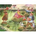 150 pcs - Wasgij Mystery 2 - Panic on the Lake - Graham Thompson (by Jumbo)