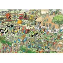 Jigsaw puzzle 3000 pcs - Farm Visit - Jan van Haasteren (by Jumbo)