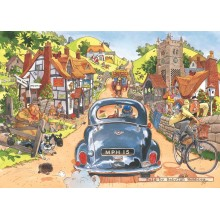 Jigsaw puzzle 500 pcs - Wasgij Original 1 - Sunday Drivers - Graham Thompson (by Jumbo)