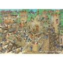 1000 pcs - Castle Conflict - Jan van Haasteren (by Jumbo)