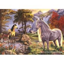 Jigsaw puzzle 1000 pcs - Hidden Horses - Hidden Images (by Jumbo)