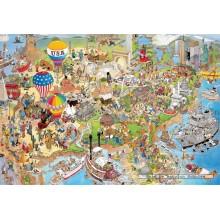 Jigsaw puzzle 5000 pcs - USA - Jan van Haasteren (by Jumbo)