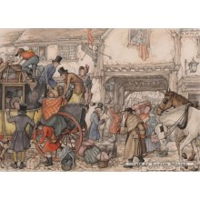 Jigsaw puzzle 1000 pcs - The stage coach - Anton Pieck (by Jumbo)