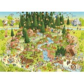 Jigsaw puzzle 1000 pcs - Black Forest Habitat - Degano (by Heye)